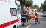 Caduta anziana trasportata in ospedale