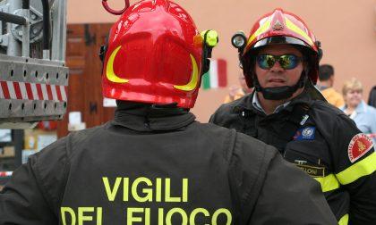 Sterpaglia in fiamme, intervengono i Vigili del fuoco