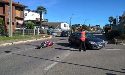 Grosso incidente a Cadorago: gravissimo un motociclista. FOTO