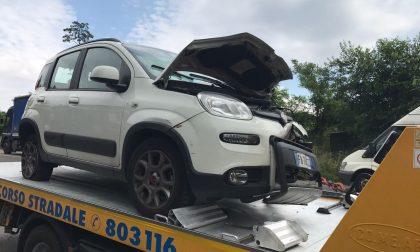Incidente sulla Sp41, scontro auto-camion. FOTO