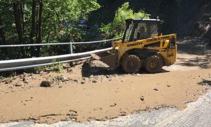 Smottamenti e frane sull'alto lago: molte strade chiuse