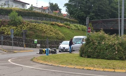Incidente a Fino Mornasco: ferito il postino. FOTO