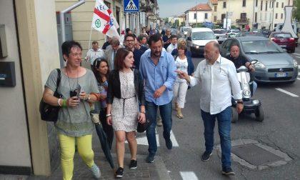 Matteo Salvini a Cantù per sostenere la candidatura di Arosio