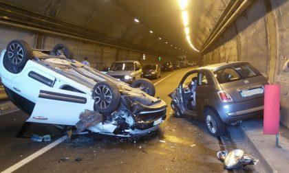 Incidente a Cernobbio in galleria: ferite tre donne. FOTO