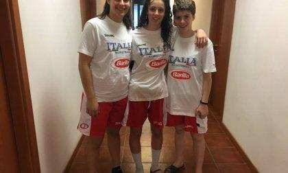 Tre cestiste lariane in Grecia con l'Italia Under15