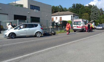 Incidente a Brenna, scontro tra auto e moto. FOTO