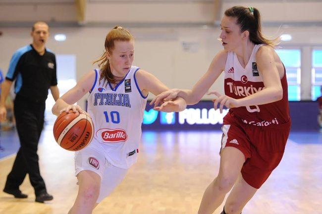 Basket femminile la canturina Beatrice Del Pero con l'Italia Under20