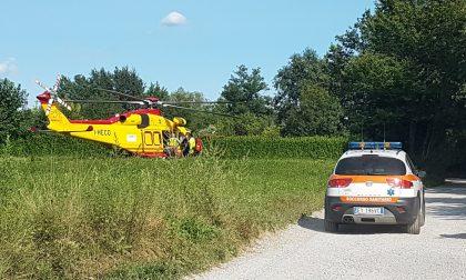 Bosisio, motociclista cade sulla pista: ferito gravemente