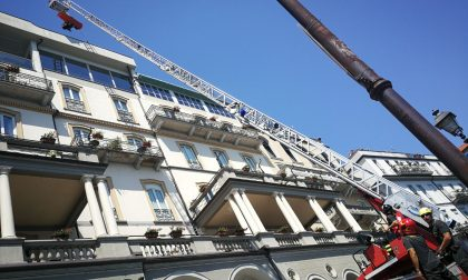 Spettacolare soccorso persona al Grand Hotel Cadenabbia. VIDEO