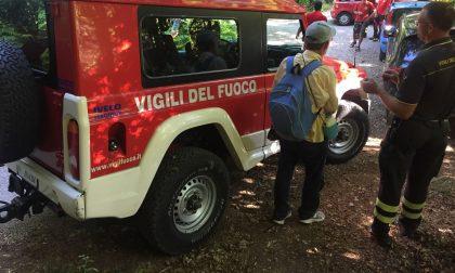 Escursionista disperso: ritrovato dai Vigili del Fuoco