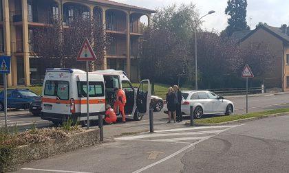 Incidente a Longone al Segrino: a terra un ciclista. FOTO