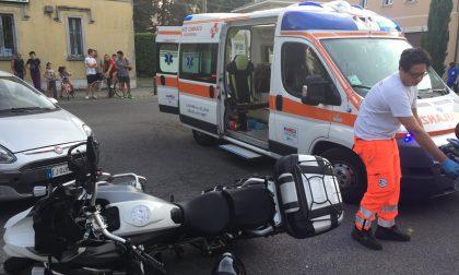 Incidente in piazza San Gerardo, auto contro moto