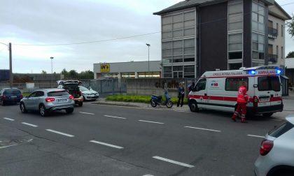 Incidente a Cantù in via Milano. Traffico in tilt