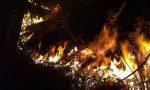 Incendio Tavernerio bruciano 10 ettari VIDEO
