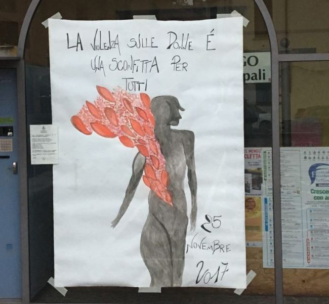 Disegno Sulla Violenza Sulle Donne.Violenza Sulle Donne Disegno Del Sindaco Per Ricordare