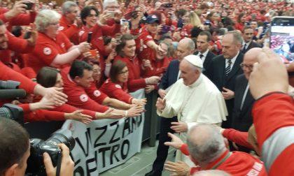 Croce Rossa volontari di Asso a Roma dal Papa