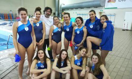 Como Nuoto  a segno le rane rosa U19 e U15