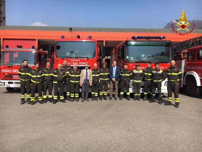 Vigili del fuoco morti nell'esplosione di Catania, anche Agrigento rende onore