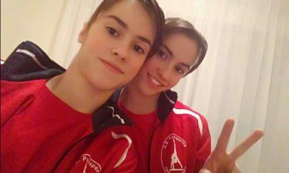 Ginnastica artistica Alice e Stella gemelle da podio