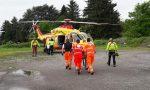 Malore donna soccorsa e portata in ospedale con l'elisoccorso