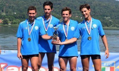 Giovane campione di canottaggio a Erba