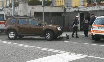 Ciclista investita in via per Cernobbio FOTO