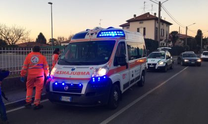 Auto-moto, incidente a Olgiate Comasco. FOTO