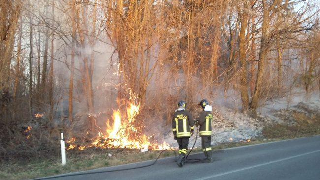 Incendio boschivo a Colverde: fiamme a pochi metri dalla Garibaldina FOTO