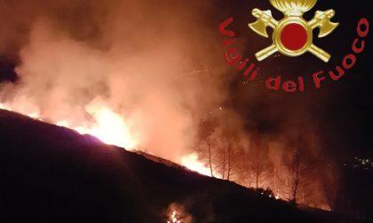 Incendio boschivo a Dosso del Liro FOTO