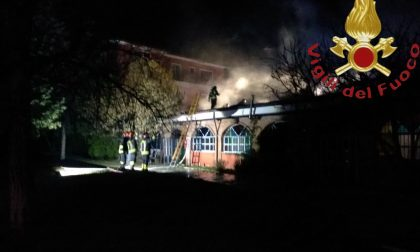 Incendio all'Osteria Al Laghet di Novedrate FOTO