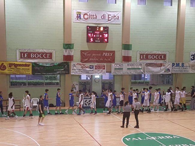 Basket giovanile ieri amichevole a Erba contro il team di Varese