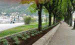 Addio grate, benvenuti fiori: il lungolago si rifà il look per l'arrivo del Giro d'Italia FOTO