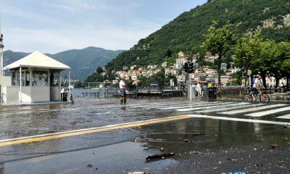 Lago di Como esondato questa mattina: è allerta