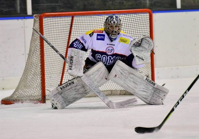 Hockey Como il portiere Federico Tesini