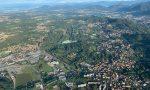 Il sindaco di Figino in mongolfiera su Como: una prova in vista della fiera patronale FOTO