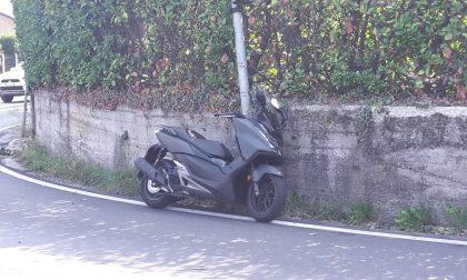 Scontro auto moto tra Alserio e Anzano FOTO