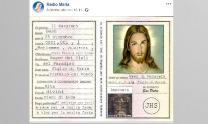 Radio Maria pubblica la carta d'identità di Gesù