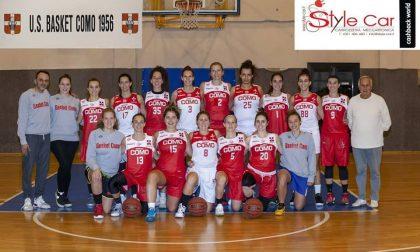 Basket femminile domani doppio derby a Cantù e Como