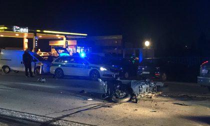 Incidente Mariano tra auto e moto: un ferito FOTO