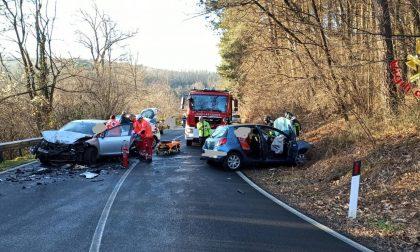 Incidente ad Alzate Brianza: due feriti FOTO
