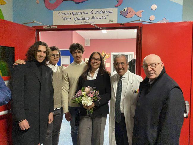 Festa all'ospedale di Cantù reparto di Pediatria intitolato a Giuliano Biscatti FOTO