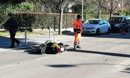 Incidente a Capiago all'ospedale un 15enne FOTO
