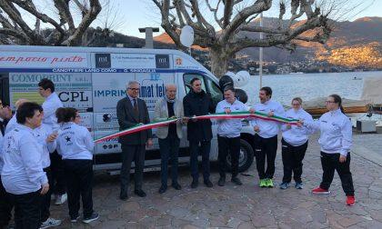 Canottieri Lario, presentato il nuovo pulmino per la squadra Para-rowing