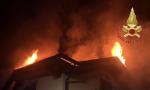 Incendio villetta a Nesso