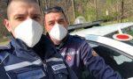 Gli angeli in divisa donano mascherine ad una paziente oncologica