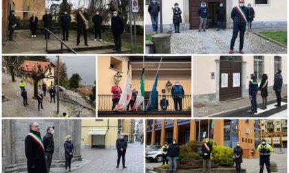 L'abbraccio commosso dei sindaci comaschi alle vittime del Covid 19 FOTO