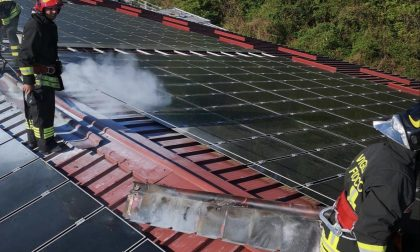 Incendio a Lurate: prendono fuoco i pannelli fotovoltaici FOTO