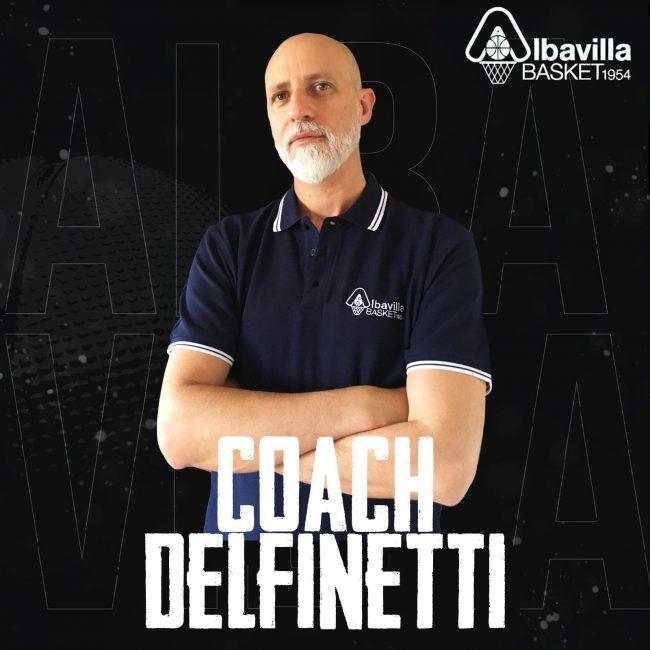 Basket lariano coach Angelo Delfinetti