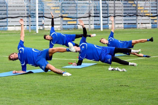 Como calcio primi allenamenti degli azzurri