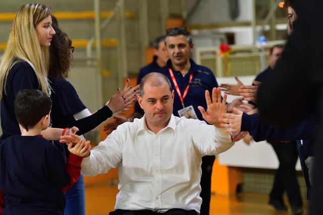 Basket in carrozzina coach Daniele Riva